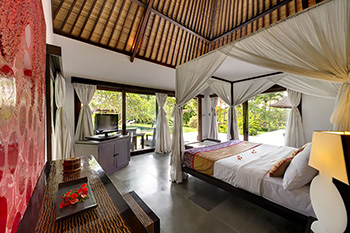 Bedroom of Villa Chalina Estate Bali