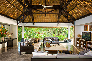 Living Area of Villa Maya Retreat Bali