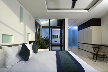 Modern Bedroom at Villa Aqua Bali