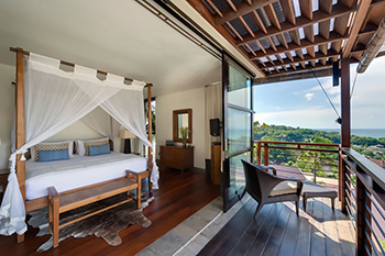 Bedroom with View at Villa Jamalu Bali