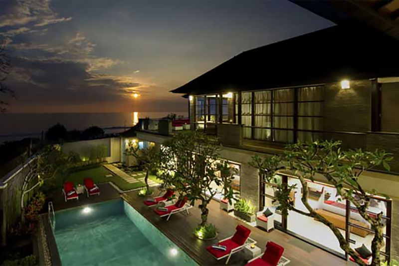 Sunset at Villa LeGa Bali