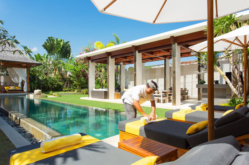 Poolside at Villa Lilibel Bali